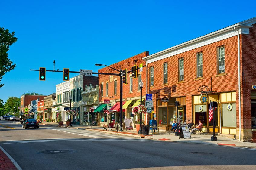 downtown business street