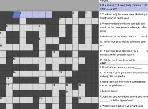 Crossword on Work